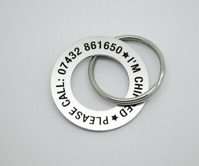 £6 • Buy Personalised Pet Dog ID Name Tag Tags Disc - Stainless Steel FREE ENGRAVING