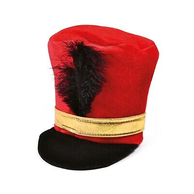 Adult Unisex Royal Queens Guard Soldier Red Black Hat Fancy Dress Set Accessory • 4.09£