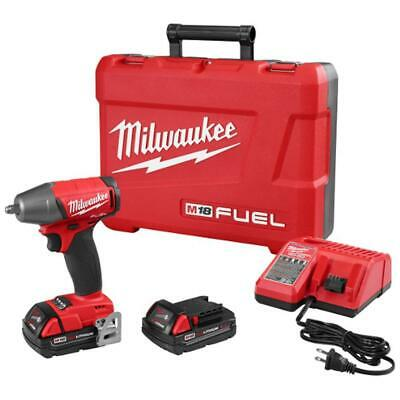 Milwaukee 2754-22CT M18 FUEL 18-Volt 3/8-Inch Compact Impact Wrench W/ Batteries • 279$