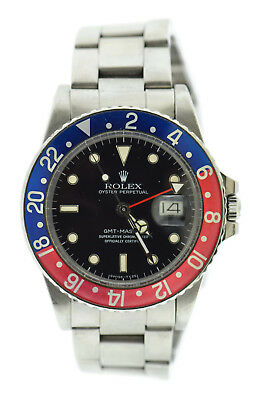 $ CDN18131.96 • Buy Rolex GMT-Master Pepsi Webbed Dial Stainless Steel Watch 16750