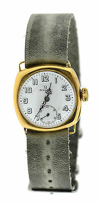 Omega Antique 1920's Cushion 18K Yellow Gold Watch • 1,825.03£