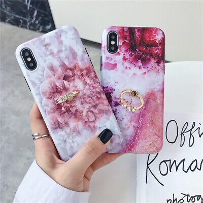 AU8.24 • Buy Marble With Diamond Ring Stand Shockproof Soft Phone Case Cover For Iphone Case