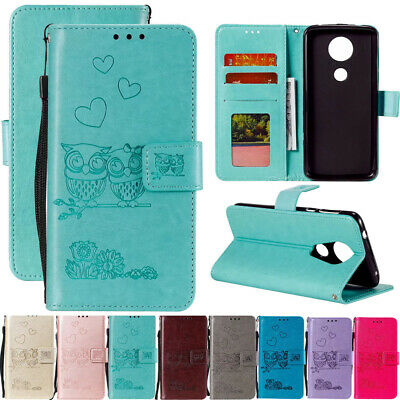 AU7.06 • Buy For Motorola Moto G7 E4 E5 Couple Owl Leather Flip Stand Card Wallet Case Cover