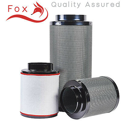 Hydroponics Fox Carbon Filter 2 5 6 8 10 12  Inch Grow Room Odour Control UK • 28.75£