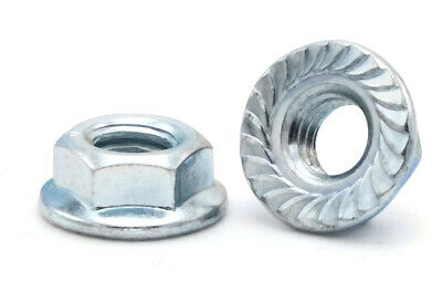 M7 Coarse Thread 7mm 1.0 Serrated Flange Lock Nut Stainless Spin Wiz Nuts 5 Pcs