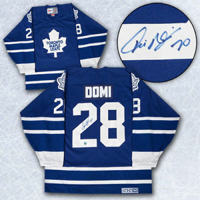 $ CDN475 • Buy Tie Domi Autograph Jersey With Inscription. Comes With COA