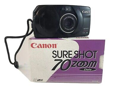 $ CDN29.97 • Buy Canon Sure Shot 70 Zoom Date S-AF Point & Shoot Compact Film Camera Stylish 35mm