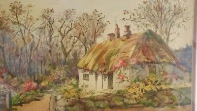 £38 • Buy Belstone Dartmoor Devon Early-mid 20thC Signed Watercolour Cottage And Garden