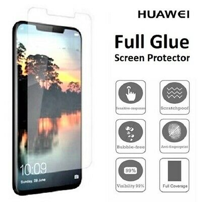 CLEAR Full UV Glue Tempered Glass Screen Protector Cover For Huawei Mate 20 Pro • 4.95£