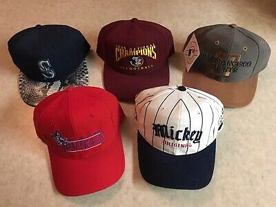 7c5c54abc95618 Lot Of 5 Vintage 90s SnapBack Hats X Twins / Logo Athletic / KC / Disney