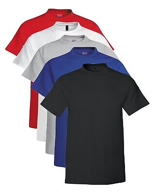 £14.99 • Buy Hanes USA Beefy T TALL BLACK GREY RED BLUE Or WHITE Extra Long Length Cotton