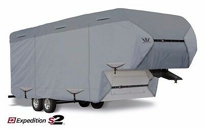 $ CDN605.45 • Buy S2 Expedition Premium 5th Fifth Wheel /Toy Hauler RV Cover Fits 37'-38' LG- Gray