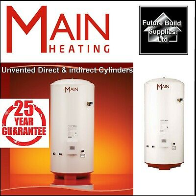 £527.11 • Buy Main Unvented Indirect / Direct & Solar Hot Water Cylinder 25 Year Guarantee