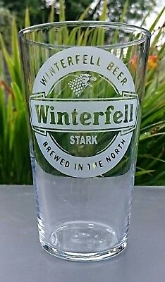 £10.99 • Buy Game Of Thrones Winterfell Engraved Pint Glass Stark