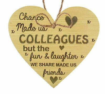 £3.99 • Buy Chance Made Us Colleagues Hanging Heart Plaque Friendship Friend Gift Thank You