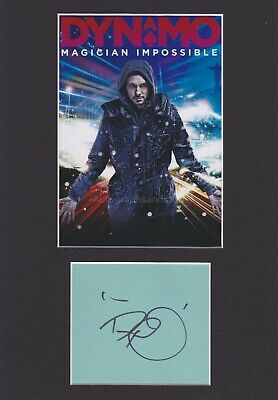 £19.99 • Buy Dynamo HAND SIGNED Mount, Autograph, Magician