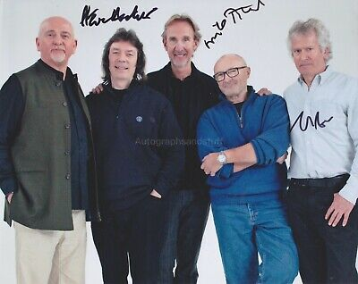 £64.99 • Buy Mike Rutherford Steve Hackett Tony Bank Hand Signed 8x10 Photo Autograph Genesis