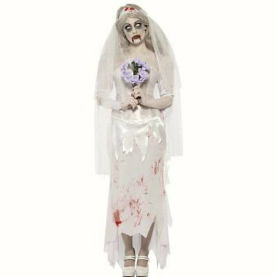 Zombie Bride Womens Halloween Fancy Dress Costume Till Death Do Us Part • 22.99£