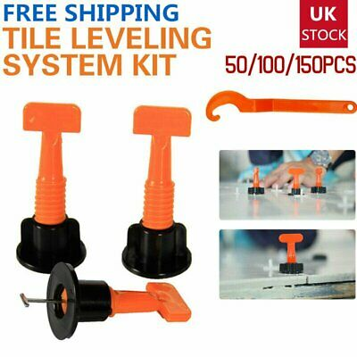 150x Tile Leveling System Kits Leveler Tile Spacer Wall Floor Tool Construction • 27.99£