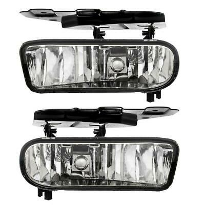 $28.37 • Buy Clear Bumper Fog Lights Driving Lamps W/Bulbs Pair For 02-06 Cadillac Escalade