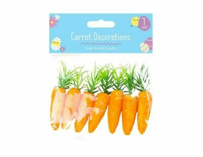 7 Mini Carrots Easter Bunny Egg Hunt Bonnet Art Craft Decoration Accessories UK • 3.75£
