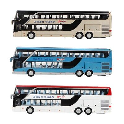 $ CDN23.10 • Buy 1:50 Scale Double-decker Bus Model Toy With LED Light Music Kids Toy Gift