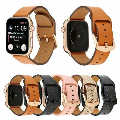 $ CDN14.49 • Buy 40/44mm Genuine Leather IWatch Band Strap For Apple Watch Series 5 4 3 2 38/42mm
