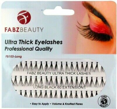 £2.79 • Buy Individual Eyelashes, Knotted Flare Cluster Lashes, 60 X Ultra Thick Extensions