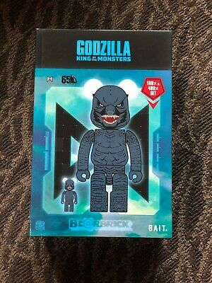 $249.99 • Buy New Rare Sdcc Exclusive Bait Bearbrick Godzilla 400% + 100% Set Medicom In Hand