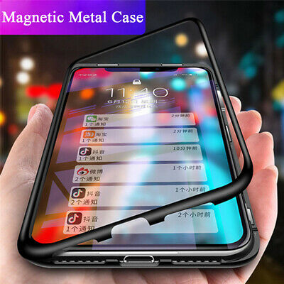 AU7.66 • Buy For OnePlus Nord 8 7T Pro 6 Magnetic Absorption Protect Tempered Glass Case Skin