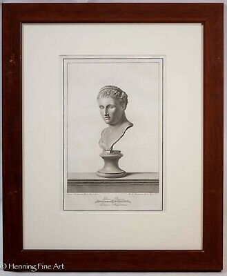 £179.80 • Buy Antique 18th Century Engraving Classical Roman Bust By Giovanni Casanova 1/11