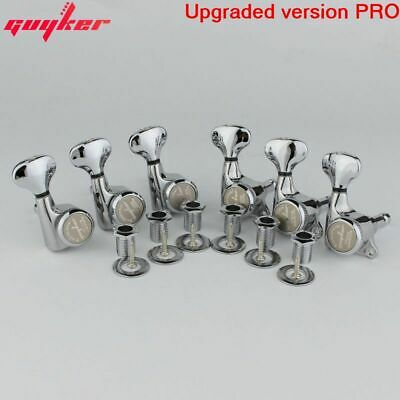 $ CDN43.94 • Buy GUYKER 6R Chrome Silver Lock String Tuners Electric Guitar Machine Heads Tuners