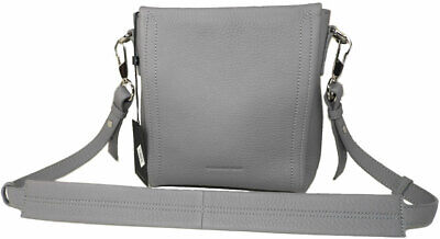 AU506.74 • Buy Alexander Wang Mini Darcy Shoulder Bag - Grey Tumble Leather Crossbody Satchel