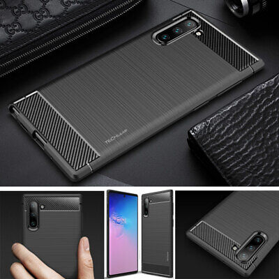 For Samsung Galaxy Note 10 / Plus 5G / Lite Premium Carbon Fibre Shockproof Case • 3.95£