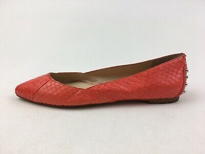 £28.84 • Buy Vince Camuto Alley Pointed Toe Ballet Flats Size 5 M, Coral Snake Spiked 2926