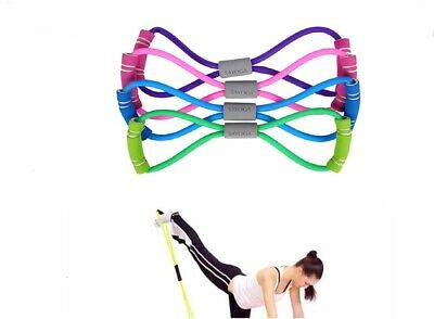 $ CDN7.24 • Buy Stretch Band Rope Latex Rubber Arm Resistance Fitness Exercise Pilates Yoga Gym