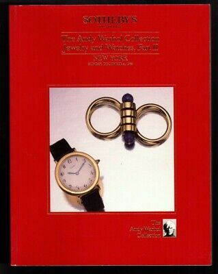 $27.99 • Buy 1988 SOTHEBY'S Andy Warhol Collection Jewelry Watch Auction Catalog Part II