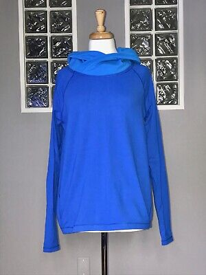 $ CDN68 • Buy Lululemon Healthy Heart Pullover 8 Baroque Blue Long Sleeve Cowl To And From