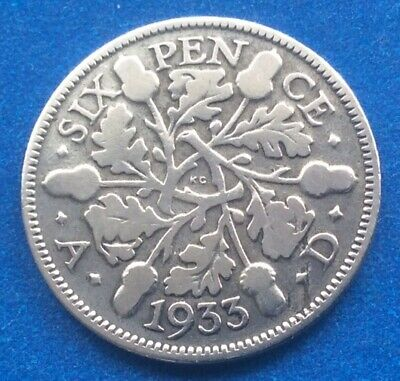 £2.99 • Buy 1933 King George V Silver Sixpence 88th Birthday Coin