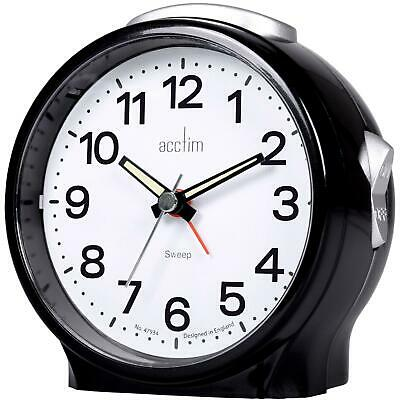 £12.95 • Buy Acctim Elsie Alarm Clock Silent Light Large Snooze Button Easy To Read Luminous