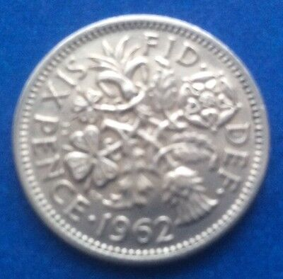 £1.60 • Buy 1962 Queen Elizabeth Ii  Lucky Tanner  Sixpence 59th Birthday / Anniversary