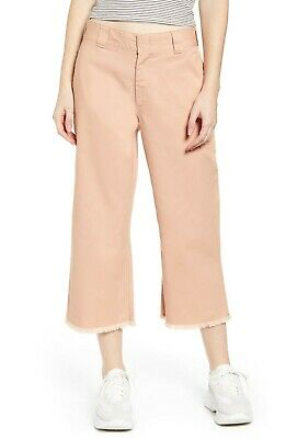 £21.82 • Buy Dickies Cropped Work Pants High Rise Relaxed New Blush Fray Hem Size 11/30