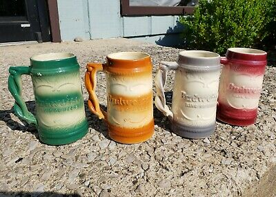 $ CDN124.92 • Buy Lot Of 4 Vintage Anheuser Busch Budweiser Beer Stein Mug Pretzel Handle St Louis