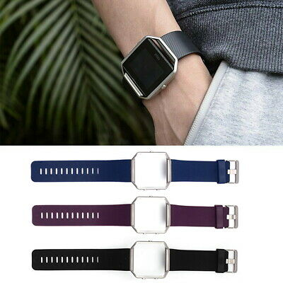 AU6.59 • Buy Fitbit Blaze Replacement Wrist Band Sports Watch Strap Smart Watch Metal Frame
