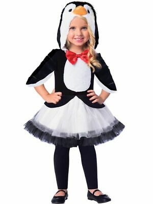 Kids Girls Plush Cute Penguin Animal Bird Tutu Fancy Dress Christmas Costume • 11.99£