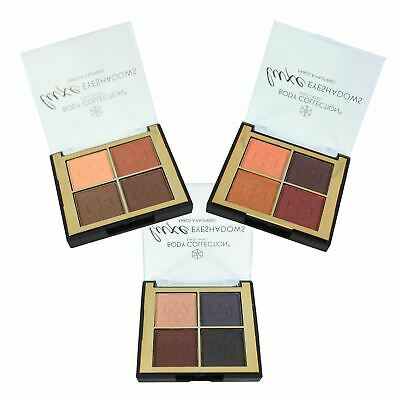 Nude Eyeshadow Quad Palette Neutral Earthy Shades Matte Shimmer Body Collection • 4.75£