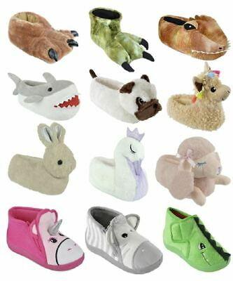 AU17.99 • Buy Girls Boys Undercover 3D Soft Comfy Character Novelty Animal Unicorn Slippers