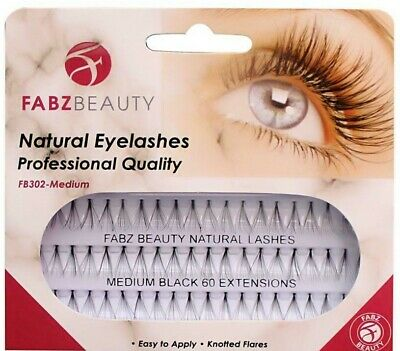 £1.95 • Buy 60 Stand Individual Flare Cluster Eyelashes Knotted False Lash Natural Looking
