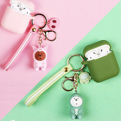 $ CDN6.20 • Buy Cute Cartoon Bear Keychain Silicone Case Protective Cover Skin For Apple AirPods