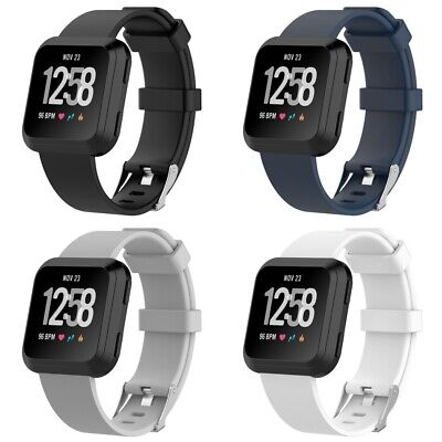 $ CDN11.24 • Buy 4 PACK For Fitbit Versa Replacement Silicone Bands Watch Sport Band Large Size